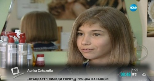 Дете за втори път дарява косата си на онкоболни
