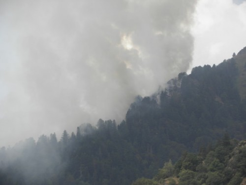 Спешно се търсят доброволци за гасене на пожара над Рилския манастир