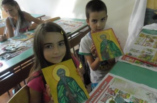 В Благоевград бе проведена лятна школа по иконопис за деца