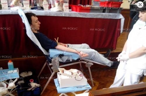 В Северен организираха акция по кръводаряване