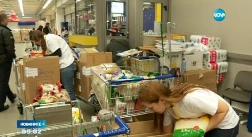 Събраха 7 тона храна за семейства в нужда