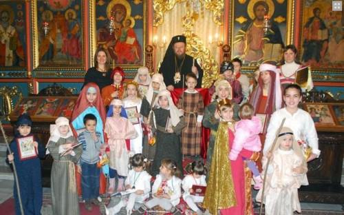 Децата от неделните училища и групите по религия от цялата страна празнуваха Рождество Христово