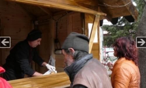Павилион за безплатна супа на пазара в Шумен