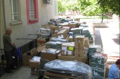 Дарение за бездомните хора, настанени в приюта Добрия самарянин към Каритас Русе