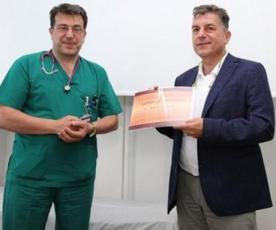 """Немски банкер направи дарение за детската клиника на УМБАЛ """"Свети Георги"""""""