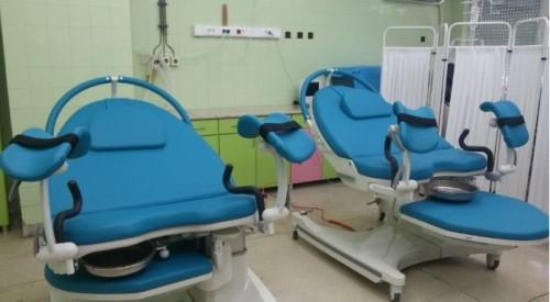 Дариха медицинско оборудване и инструменти на АГ отделението на многопрофилната болница в града