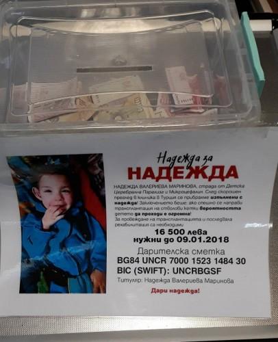 Да помогнем на 3-годишната Надя да събере средства за лечение!