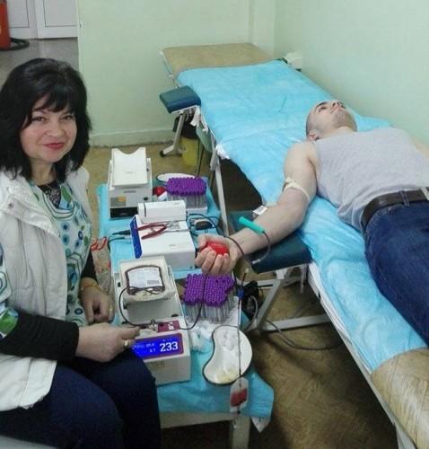 Кръводарителската кампания в центъра на Асеновград продължава и днес