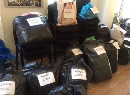 Благотворително раздаване на дрехи в Своге
