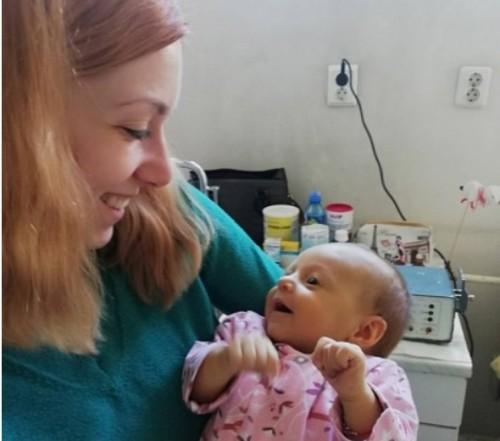 Събраха сумата от 500 хил. лева за лечението на бебе Калина от Варна