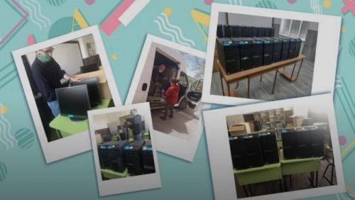 Училища в Монтана и Русе получиха над 50 компютъра дарение