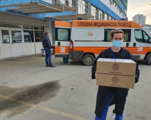 Дарение за Бургаските медици на първа линия